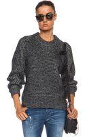 Belstaff Rorrington Chunky Knit Cotton-blend Sweater - Lyst