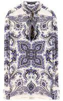 Etro Printed Silk Blouse - Lyst