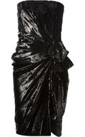 Lanvin Embellished Gathered Dress - Lyst