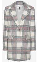 Exclusive For Intermix Single Breasted Plaid Coat - Lyst