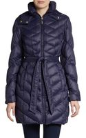 Ellen Tracy Quilted Down Packable Jacket - Lyst