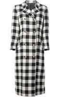 Gianni Versace Vintage Houndstooth Coat - Lyst