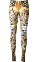 Philipp Plein Leopard Print Leggings - Lyst