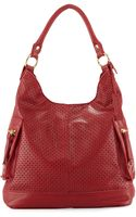 Linea Pelle Dylan Perforated Leather Hobo Bag Poppy - Lyst
