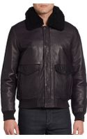 Marc By Marc Jacobs Lewisham Shearling-collared Leather Jacket - Lyst