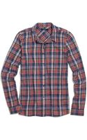 Madewell Plaid Boyshirt in Rose Tartan - Lyst