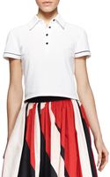 Alice + Olivia Miller Cropped Polo Shirt Alice Olivia - Lyst