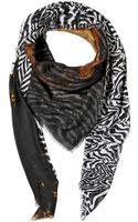 Roberto Cavalli Zebra Printed Modal Blend Scarf - Lyst