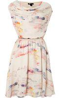Cutie Cowl Neck Print Dress - Lyst