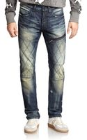 PRPS Quilted Straight-leg Jeans - Lyst