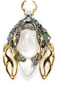 Alexis Bittar Lucite Labradorite Crystal Scarab Beetle Pin - Lyst