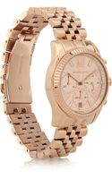 Michael Kors Lexington Rose Goldtone Stainless Steel Chronograph Watch - Lyst