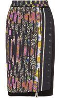 Etro Printed Crepe Pencil Skirt - Lyst