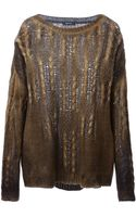 Avant Toi Cable Knit Sweater - Lyst