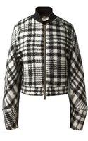 Stella McCartney Black and White Wool Jacket - Lyst