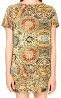Pixie Market Behati Baroque Shift Dress - Lyst