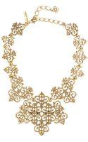 Oscar de la Renta Russian Gold Filigree Necklace - Lyst