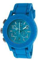 Nixon Mens Rubber 4220 Chronograph Blue Rubber Strap and Dial - Lyst