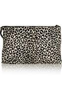 Valentino Leopardprint Calf Hair Clutch - Lyst