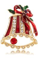R.j. Graziano Holiday Bell Brooch - Lyst