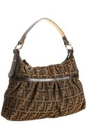 Fendi Tobacco Zucca Canvas Chef Star Studded Bag - Lyst
