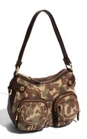 B. Makowsky Dina Zip Patch Pocket Leather Hobo - Lyst
