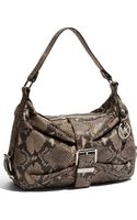 Michael by Michael Kors Heidi - Large Python Embossed Leather Satchel - Lyst