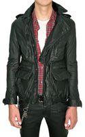 Balmain Calfskin Parka Leather Jacket - Lyst