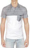Dolce & Gabbana Checked Poplin and Jersey Polo - Lyst