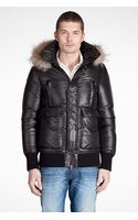 Mackage Cocoa Quilted Kaine Fur Trim Hooded Down Fill Bomber Jacket - Lyst