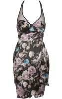Preen By Thorton Bregazzi Floral Print Halter Dress - Lyst
