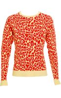 Christopher Kane Leopard Print Sweater - Lyst