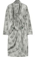 Clemens En August Draped Silk Print Dress - Lyst