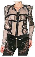 Preen By Thornton Bregazzi Lace Padded Shoulder Shirt - Lyst