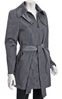 DKNY Steel Zip Front Julia Belted Trench Coat - Lyst