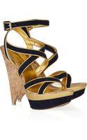 Emilio Pucci Suede Multi-strap Platform Sandals - Lyst