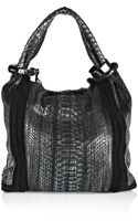 Jimmy Choo Saba Medium Metallic Python Hobo Bag - Lyst