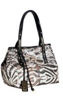 Jimmy Choo Natural Exotic Print Canvas Scarlet Small Tote - Lyst