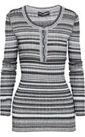 Dolce & Gabbana Striped Stretch-knit Sweater - Lyst