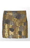 Haute Hippie Iconic Beaded Mini Skirt - Lyst