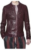 Dolce & Gabbana Textured Lambskin Leather Jacket - Lyst