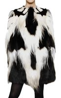 Giambattista Valli Patchwork Cape Fur Coat - Lyst