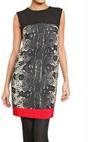 Giambattista Valli Python Print Wool and Silk Crepe Dress - Lyst