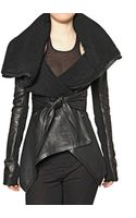 Rick Owens Shearling Leather Jacket - Lyst