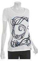 Gucci White Cotton Ribbon Graphic T-shirt - Lyst