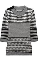 Lela Rose Striped Knitted Cashmere Sweater - Lyst