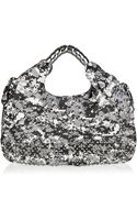 Thomas Wylde Warzone Studded Printed Leather Hobo Bag - Lyst