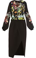 Preen By Thorton Bregazzi Agatha Long Sleeve Dress - Lyst