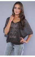 Free People The Lion Coffee Graphic Tee in Washed Black - Lyst