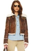 Michael Kors Buckled Motorcycle Jacket - Lyst